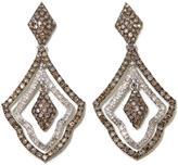 2.01ctw Champagne and White Diamond Geometric Drop Earrings