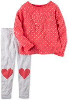 Carter's 2-Pc. Love You Top & Heart Leggings Set, Baby Girls (0-24 months)