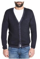 Sun 68 Men's Blue Wool Cardigan.