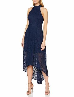 Yumi Women's Neck High Low Lace Maxi Dress Casual