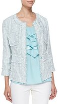Lafayette 148 New York Reagan Tweed Jacket, Blyss Blue Multi