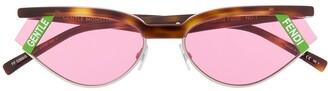 Fendi Tortoise Shell Cat Eye Sunglasses