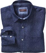 Johnston & Murphy Flower-Print Washed Linen Shirt