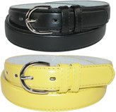 CTM® Women's Leather 1 1/8 Inch Dress Belt (Pack of 2 Colors)