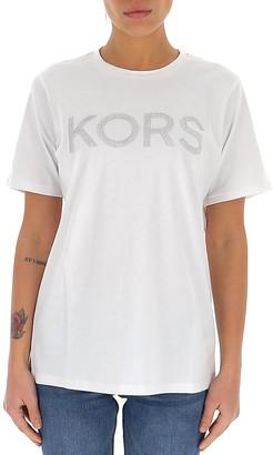 MICHAEL Michael Kors Embellished Logo T-Shirt