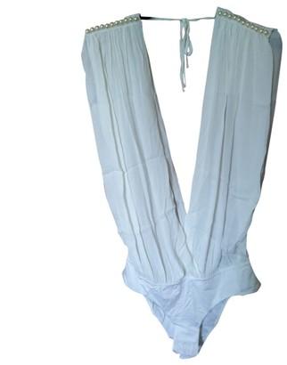 La Perla White Cotton Top for Women