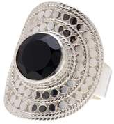 Anna Beck Sterling Silver Black Onyx Large Cocktail RIng