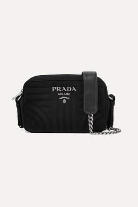 Prada Quilted Suede Camera Bag - Black