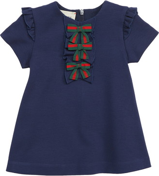 Gucci Ruffle & Bow Dress
