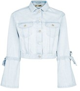 Topshop MOTO Trumpet Sleeve Denim Jacket