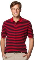 Chaps Men's Striped Pique Polo