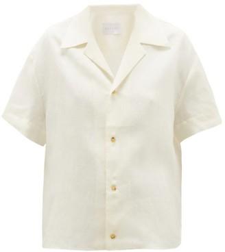 ASCENO The Prague Linen Shirt - White