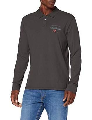 Napapijri Men's EILS Polo Shirt, (Green Forest 2 GE3)