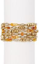Lucky Brand Citrine & 7mm Freshwater Pearl Link Bracelet