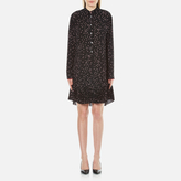 Paul Smith Women's Small Spot Shirt Dress Black