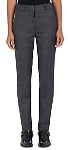 Calvin Klein Women's Checked Wool Flat-Front Trousers