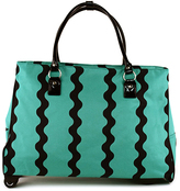 Turquoise & Black 20'' Wave Rolling Carry-On