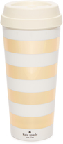 Kate Spade Gold Stripe Thermal Mug