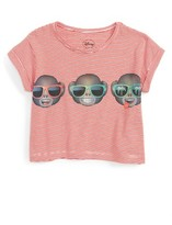 Eleven Paris Girl's Little Elevenparis Emoji Print Crop Tee