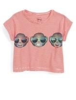 Eleven Paris Toddler Girl's Little Elevenparis Emoji Print Crop Tee