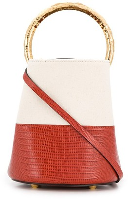 Marni two-tone Pannier bucket bag