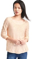 Gap Embroidered long sleeve swing top
