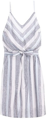 Splendid Striped Tie Waist Dress (Sea Stripe) Women's Clothing