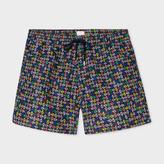Paul Smith Men's Black 'Spotted Paisley' Print Swim Shorts