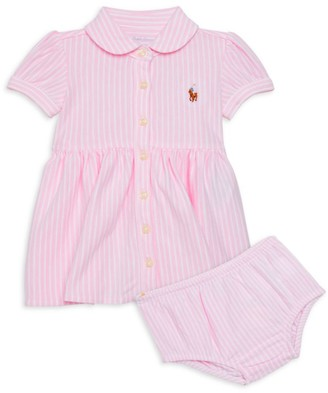 Ralph Lauren Baby Girl's 2-Piece Oxford Shirtdress & Bloomers Set