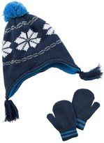 Carter's Baby Boy Knit Tassel Hat & Mittens Set