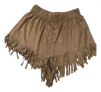 Brandy Melville Camel Suede Shorts