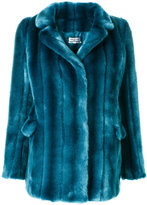 Paul & Joe panelled faux fur coat