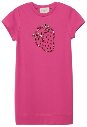 Charabia Embellished Strawberry T-Shirt Dress (3-14 Years)