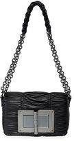 Tom Ford Natalia Medium Pleated Shoulder Bag, Black