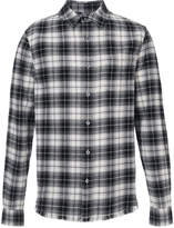 Frame checked flannel shirt