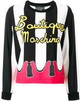 Moschino striped logo sweatshirt