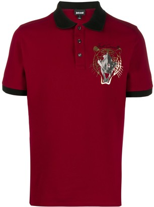 Just Cavalli Logo Embroidered Polo Shirt