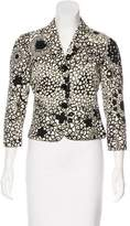 Moschino Cheap & Chic Moschino Cheap and Chic Floral Print Cropped Blazer