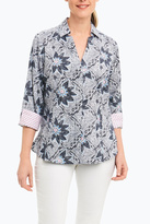 Foxcroft Navy Floral Shirt