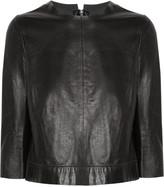 Baez leather top