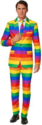 Men's Suitmeister Slim-Fit Rainbow Suit & Tie Set