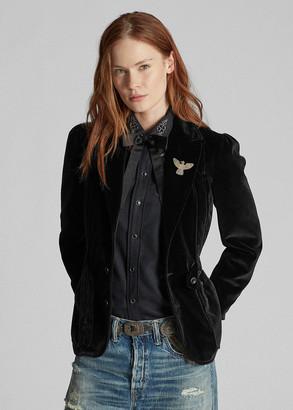 Ralph Lauren Velvet Riding Blazer