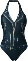 Moschino catsuit print swimsuit - women - Polyamide/Spandex/Elastane - 38