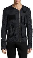 Rick Owens V-Neck Pocket Long Sleeve Jacket