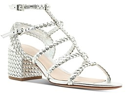 Schutz Women's Clarcie Woven Block-Heel Sandals