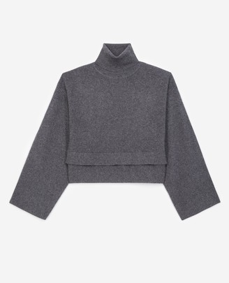 The Kooples Grey cashmere and wool sweater w/turtleneck