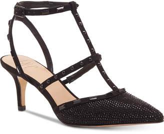 INC International Concepts Inc Carma Evening Kitten Heel Pumps, Women Shoes