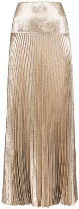 Chloé Pleated Metallic Maxi Skirt