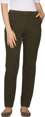 Denim & Co. Reg. Twill Modern Pull-on Full Length St. Leg Pants