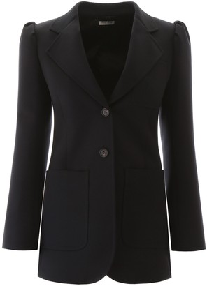 Miu Miu Single-Breasted Tailored Blazer